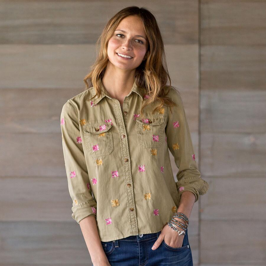 FRANCES BUTTON DOWN TOP