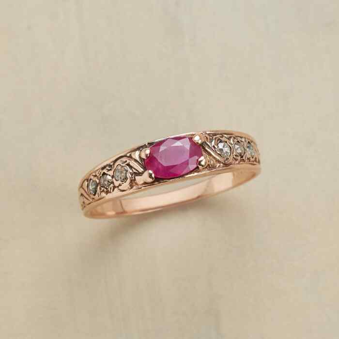 STAR KISSED RUBY RING