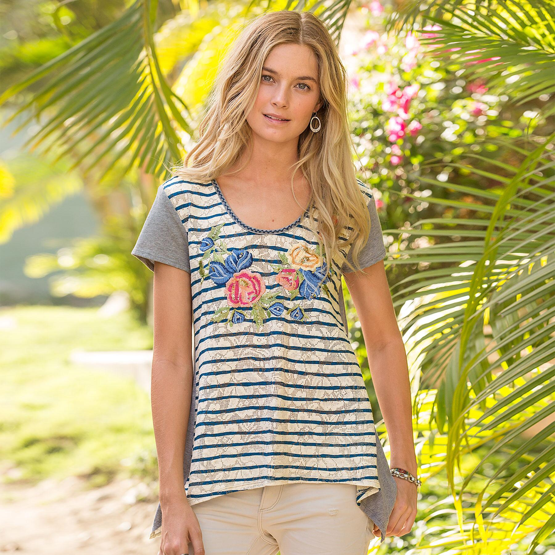 AWASH WITH BLOOMS TEE: View 1