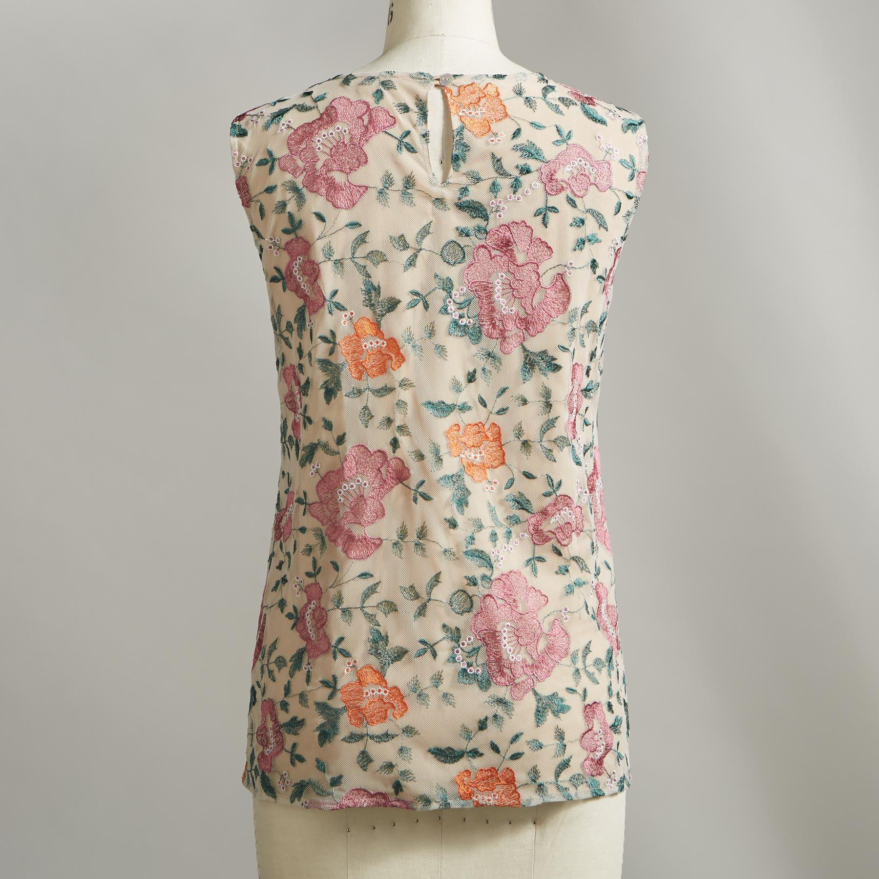ROSAMAR EMBROIDERED TANK: View 2