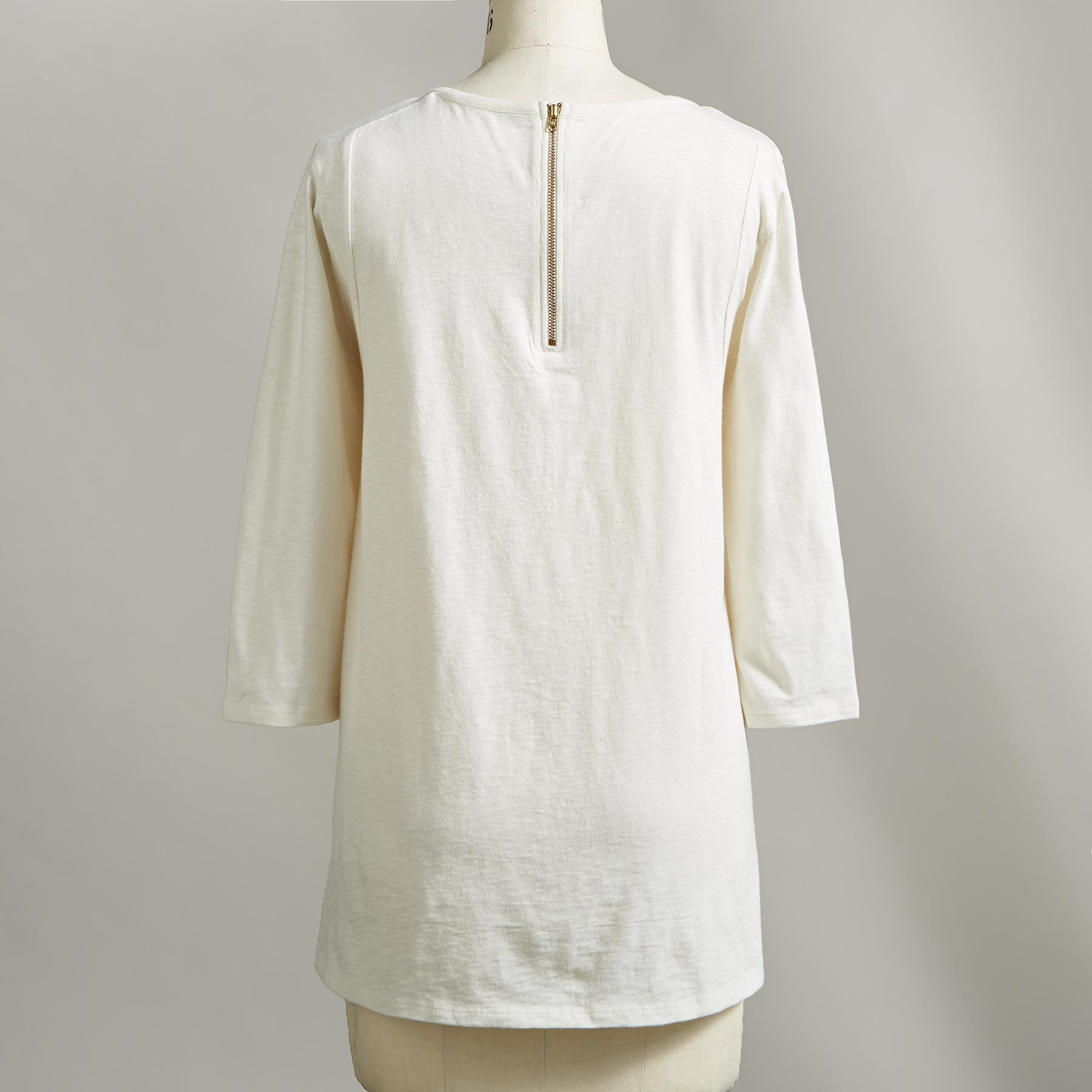BLANCA EMBROIDERED TOP: View 2