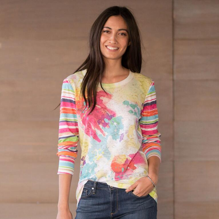 ABSTRACT BLOOMS TEE