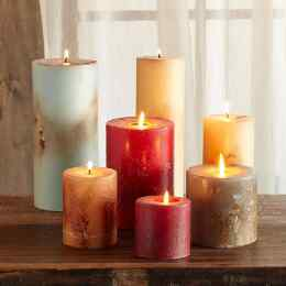 ANTIGUA SINGLE WICK PILLAR CANDLE