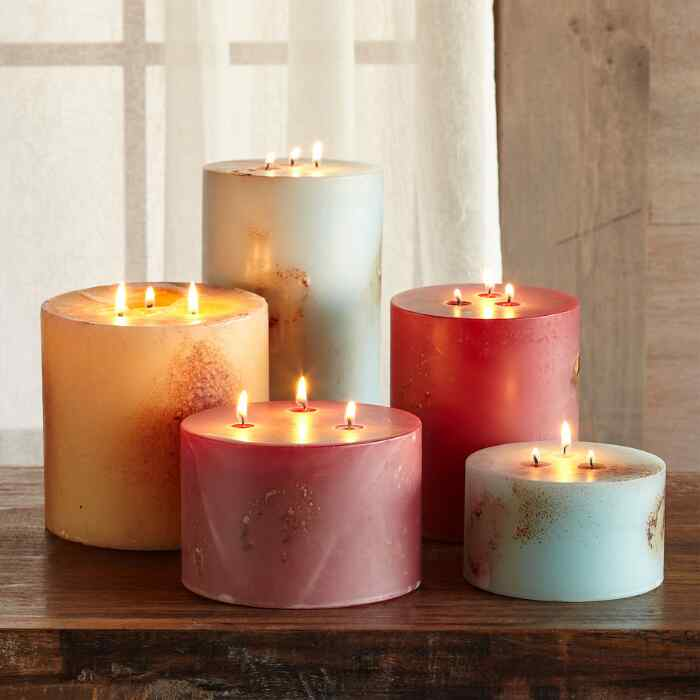 ANTIGUA TRIPLE WICK PILLAR CANDLE