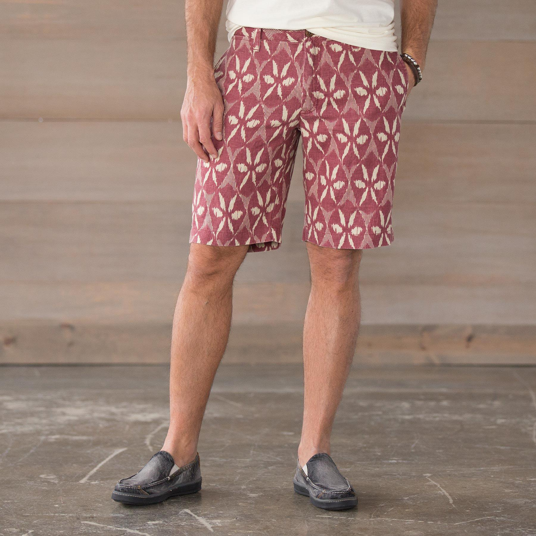 GETAWAY SHORTS- RED PRINT: View 1
