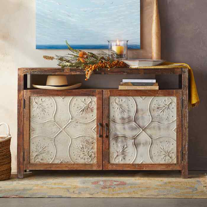 MARIETTA PRESSED TIN SMALL CONSOLE