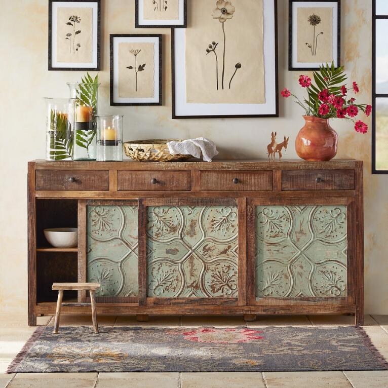 MARIETTA PRESSED TIN LARGE CONSOLE