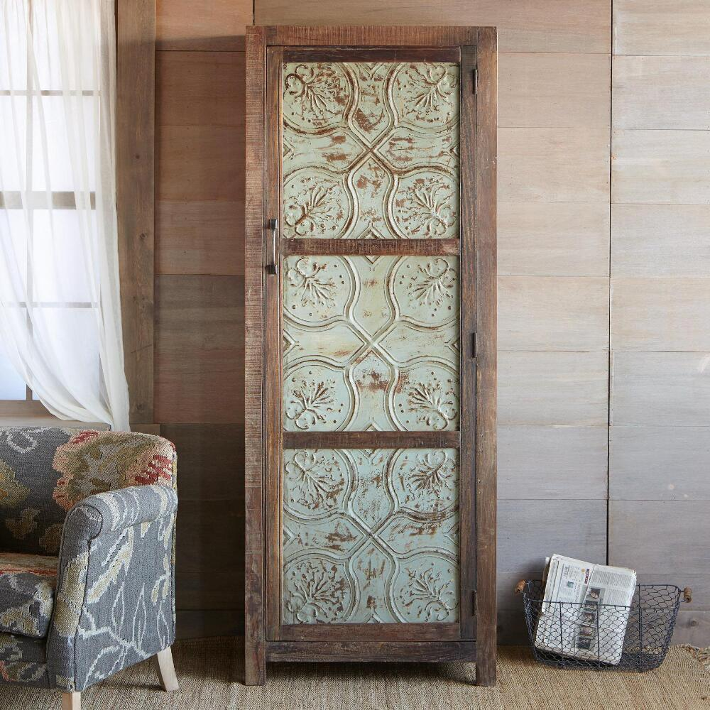 MARIETTA PRESSED TIN CABINET: View 1