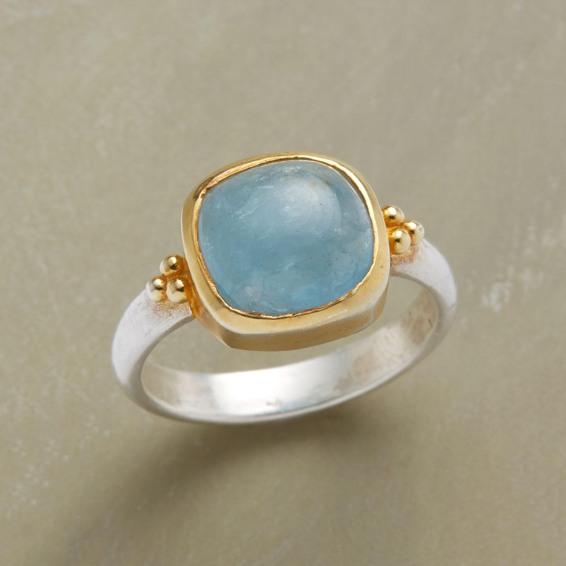 AQUA CHAMBRAY RING: View 1