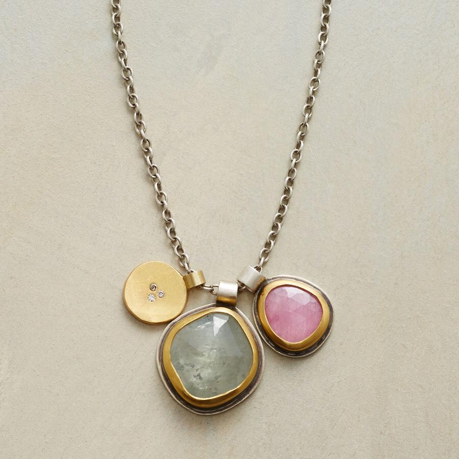 THREE CHARM NECKLACE