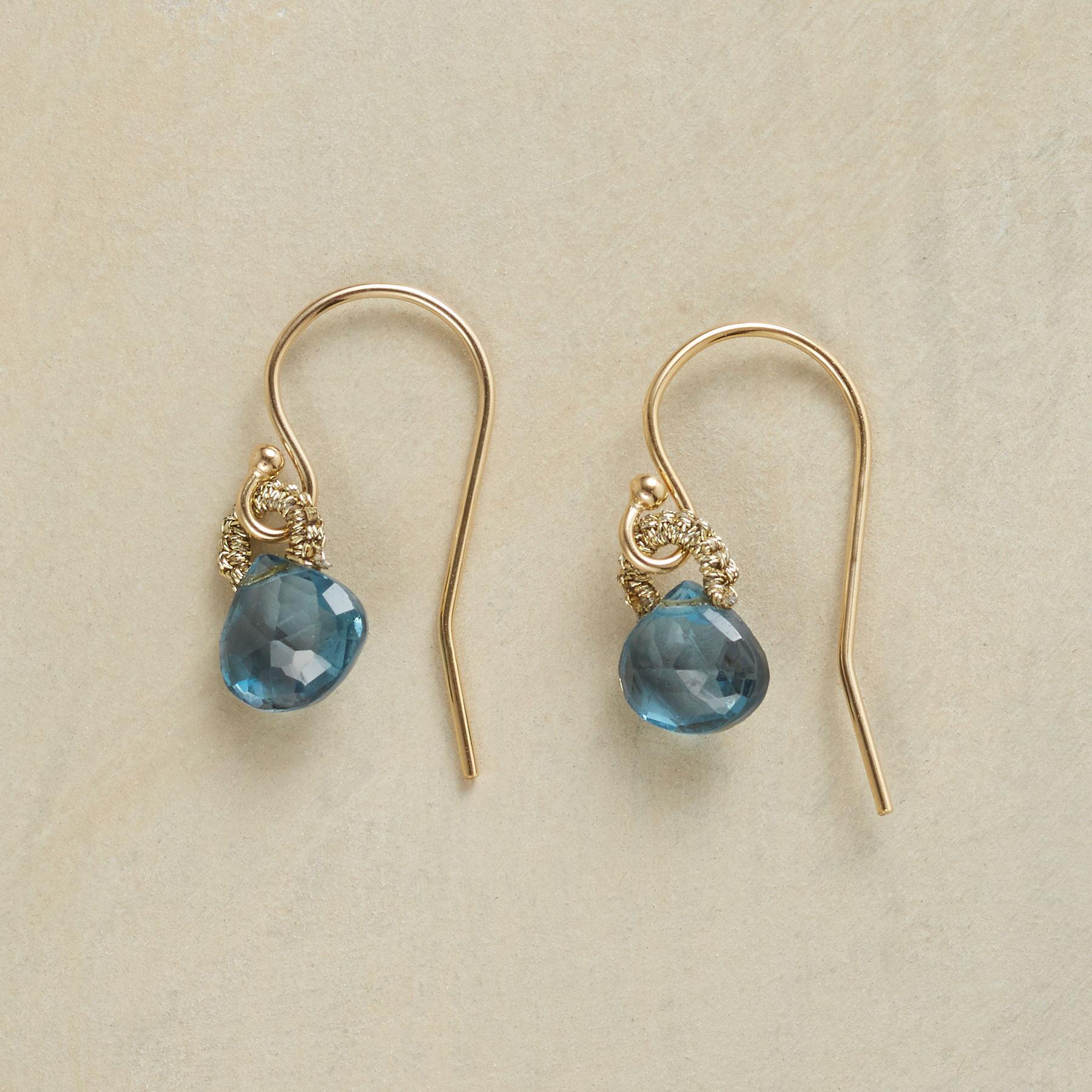 BLINK OF BLUE EARRINGS: View 1