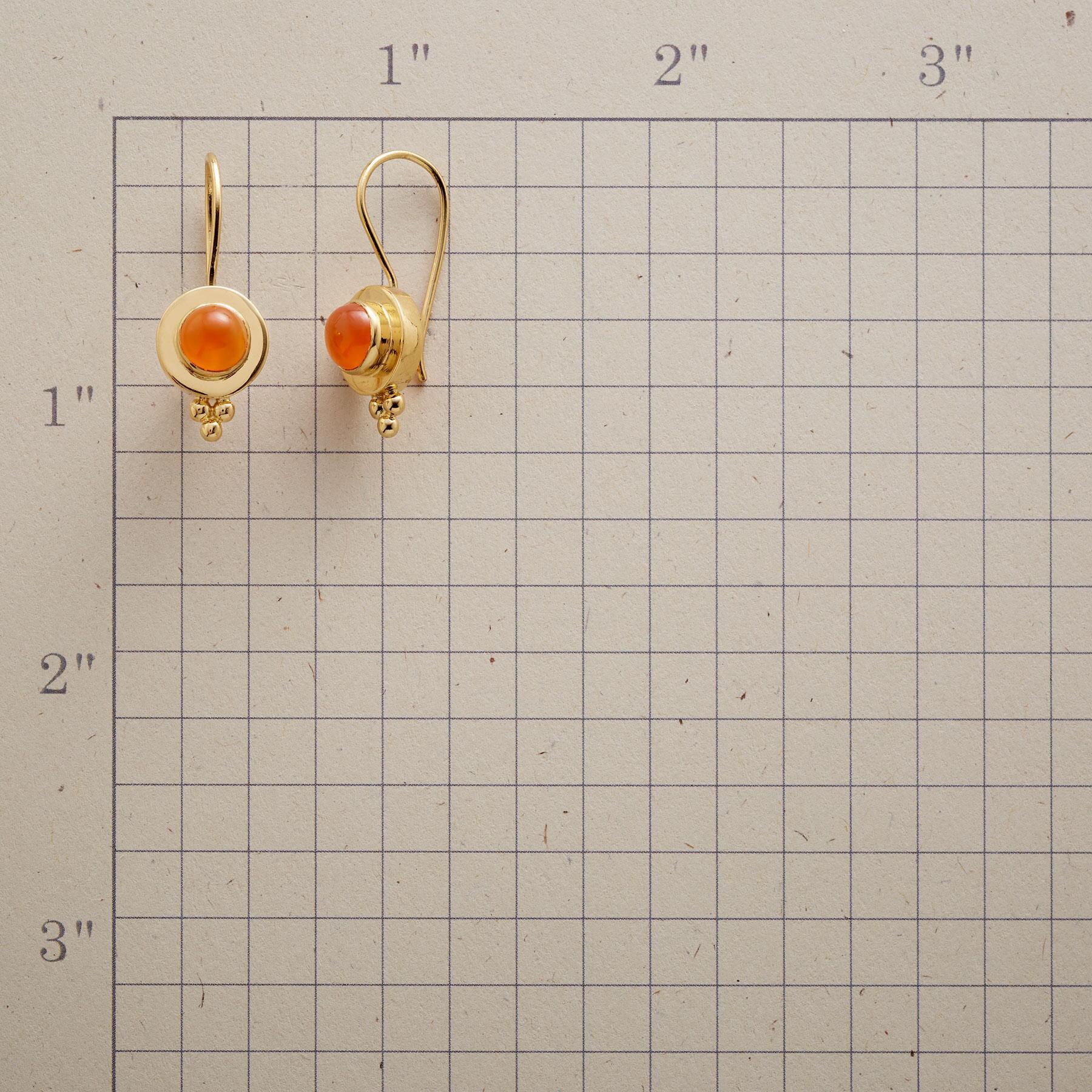 CARNELIAN AGLOW EARRINGS: View 2