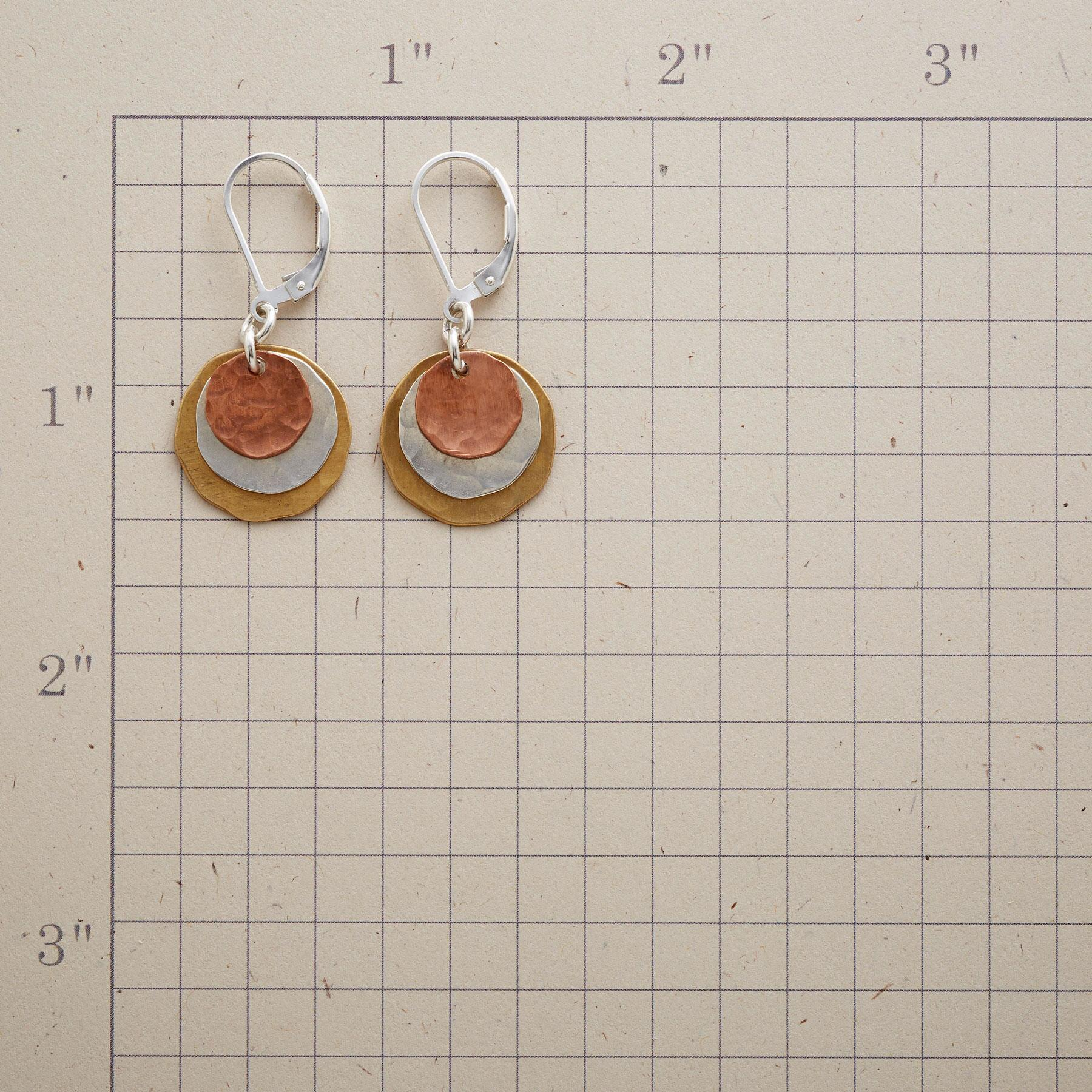 DOUBLE ECLIPSE EARRINGS: View 2