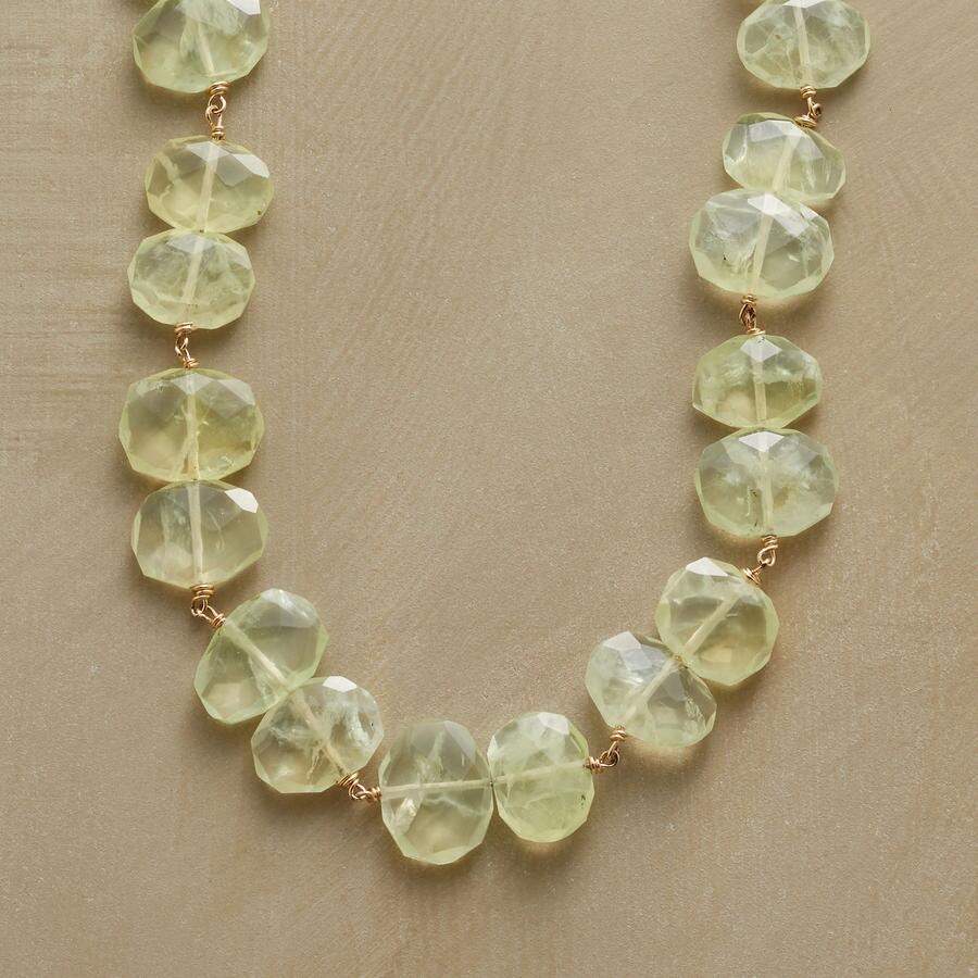 PREHNITE NUGGET NECKLACE