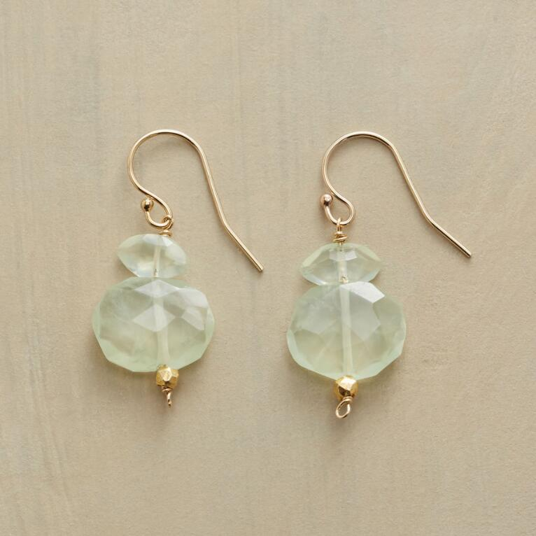 PREHNITE NUGGET EARRINGS