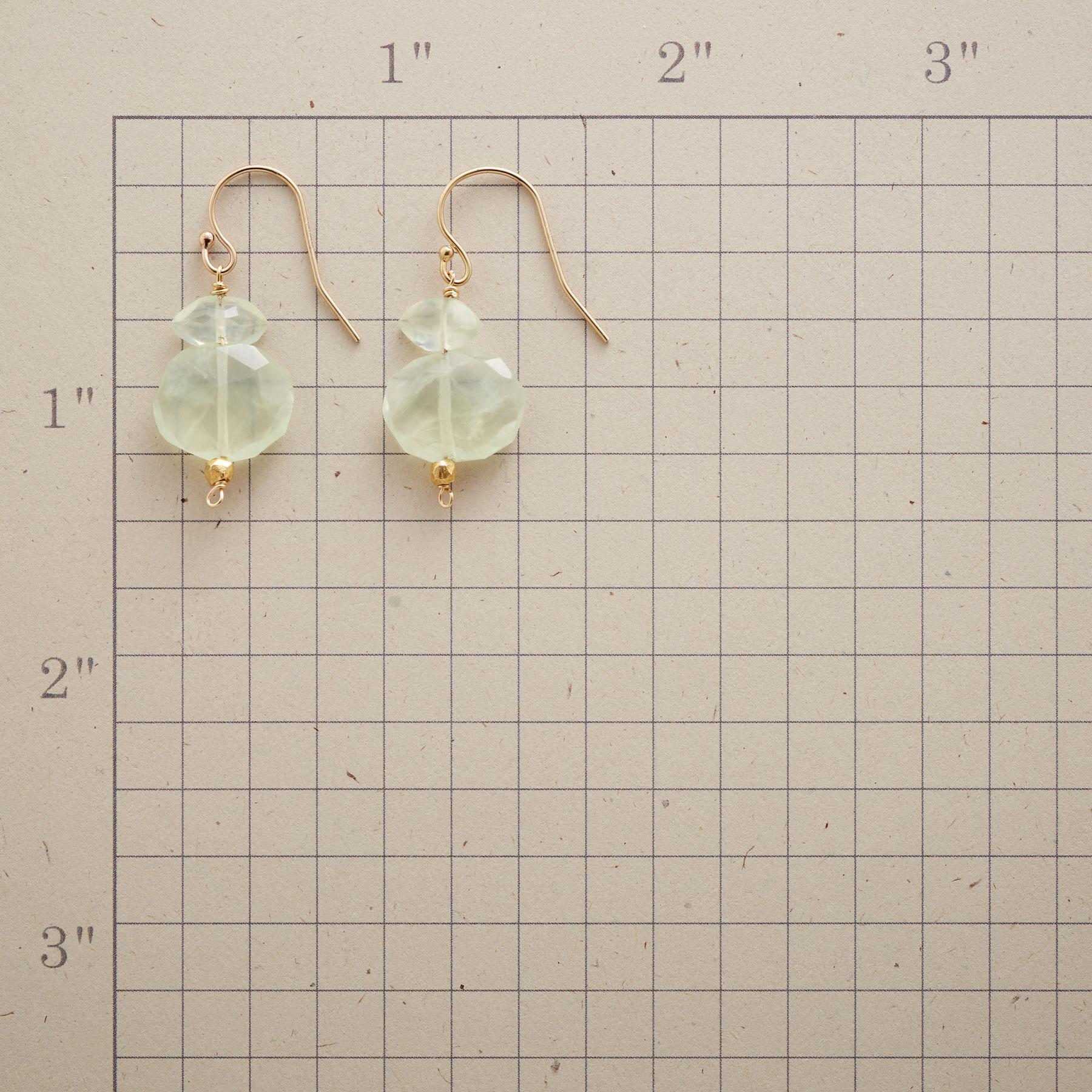PREHNITE NUGGET EARRINGS: View 2