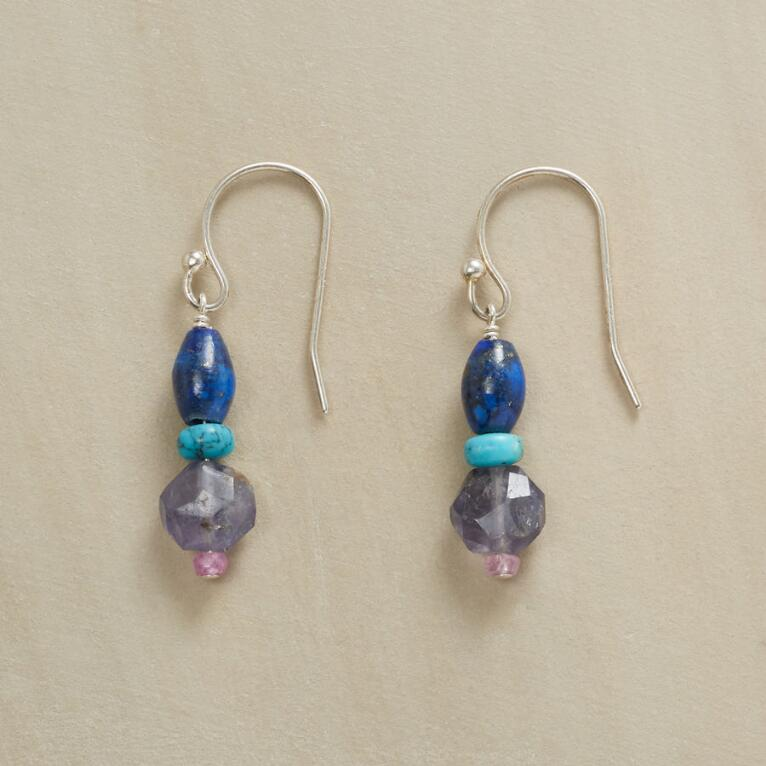 COLUMN OF BLUES EARRINGS