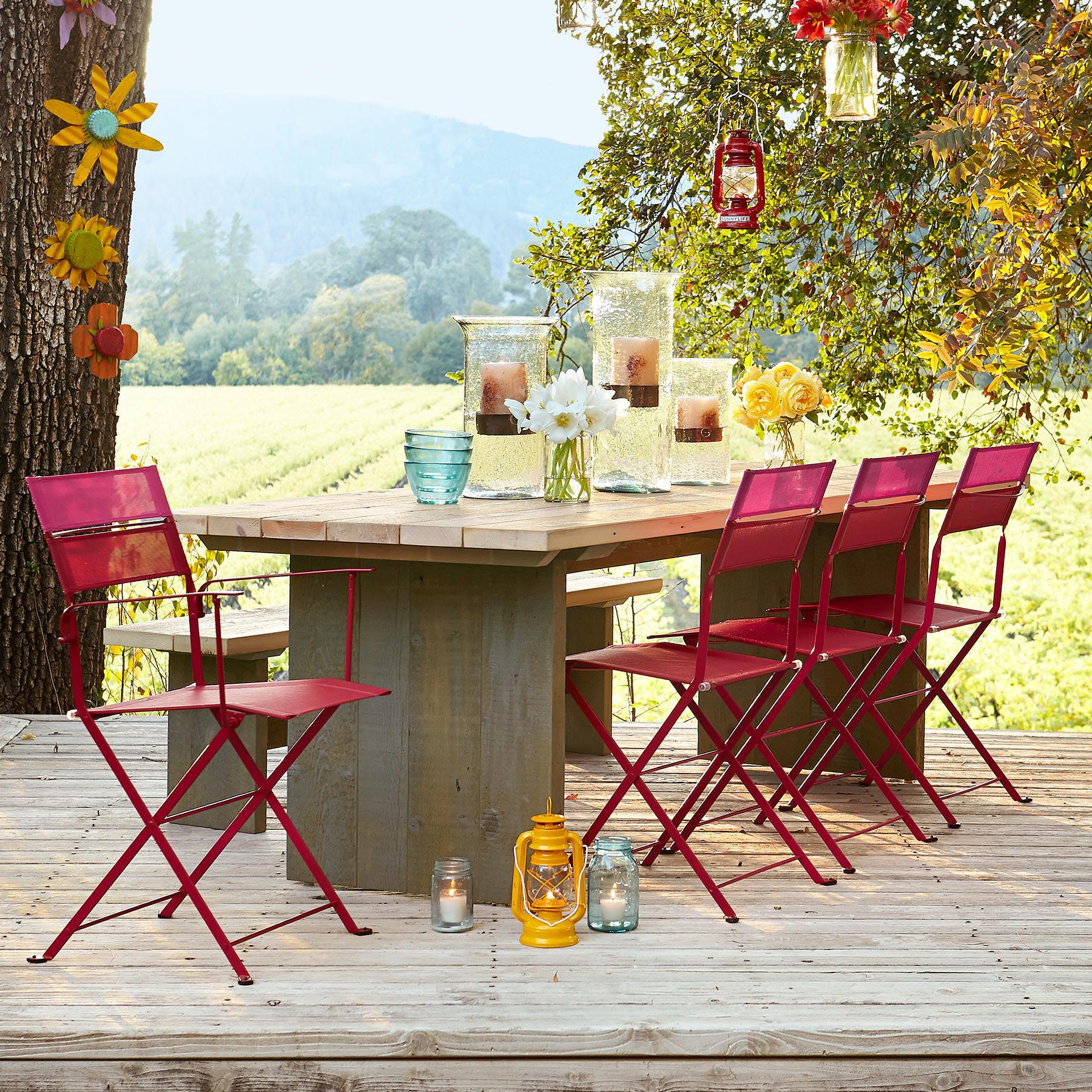 STEWART FALLS OUTDOOR DINING TABLE: View 1