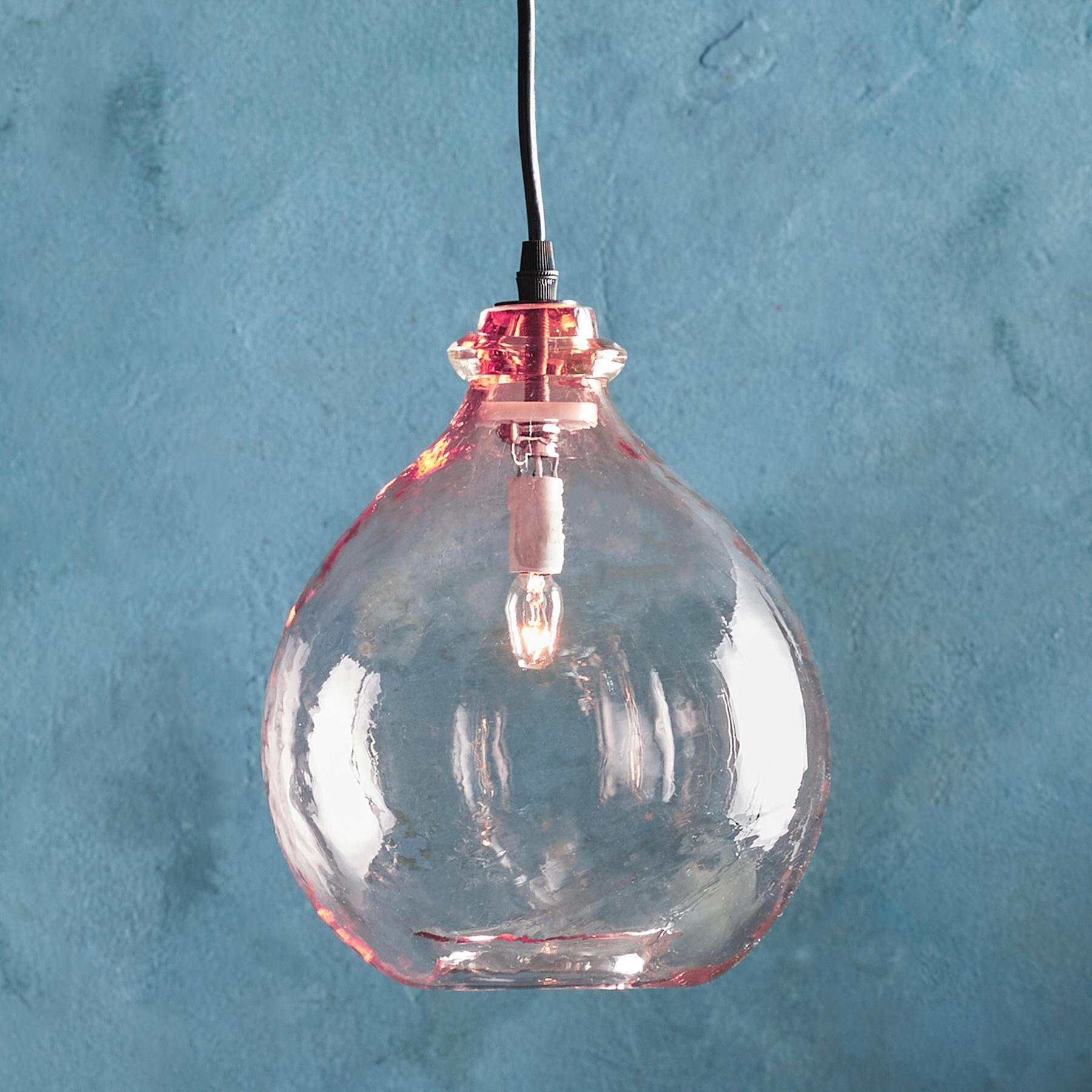 SALON GLASS DEMIJOHN PENDANT LIGHT: View 1