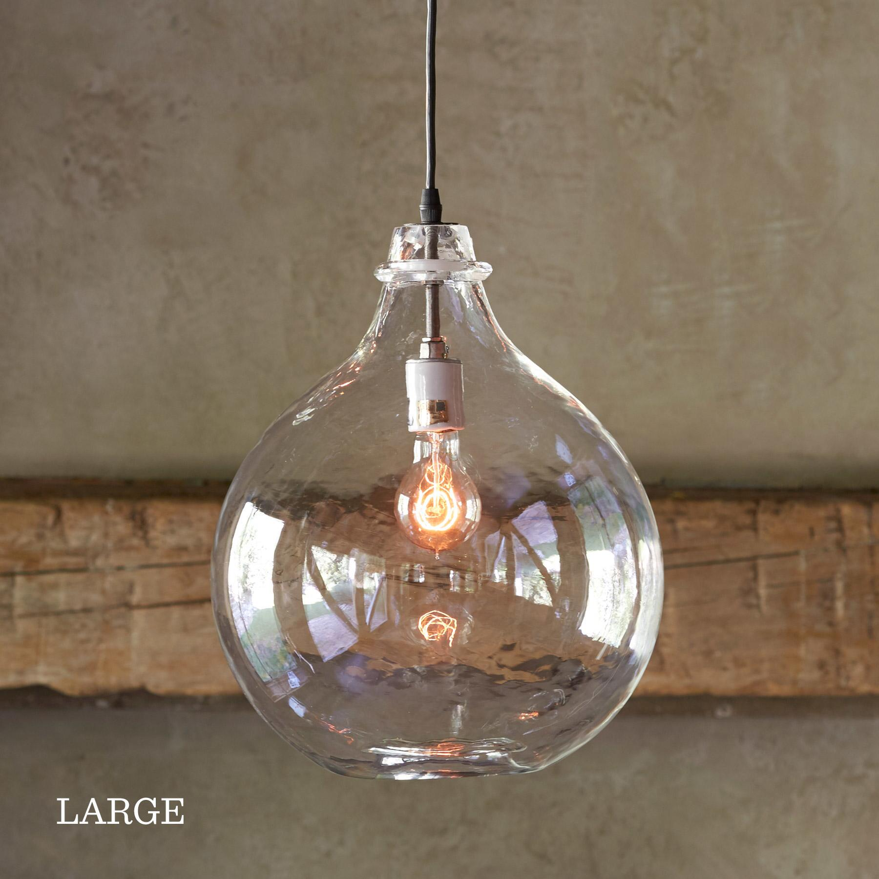 SALON GLASS DEMIJOHN PENDANT LIGHT: View 4