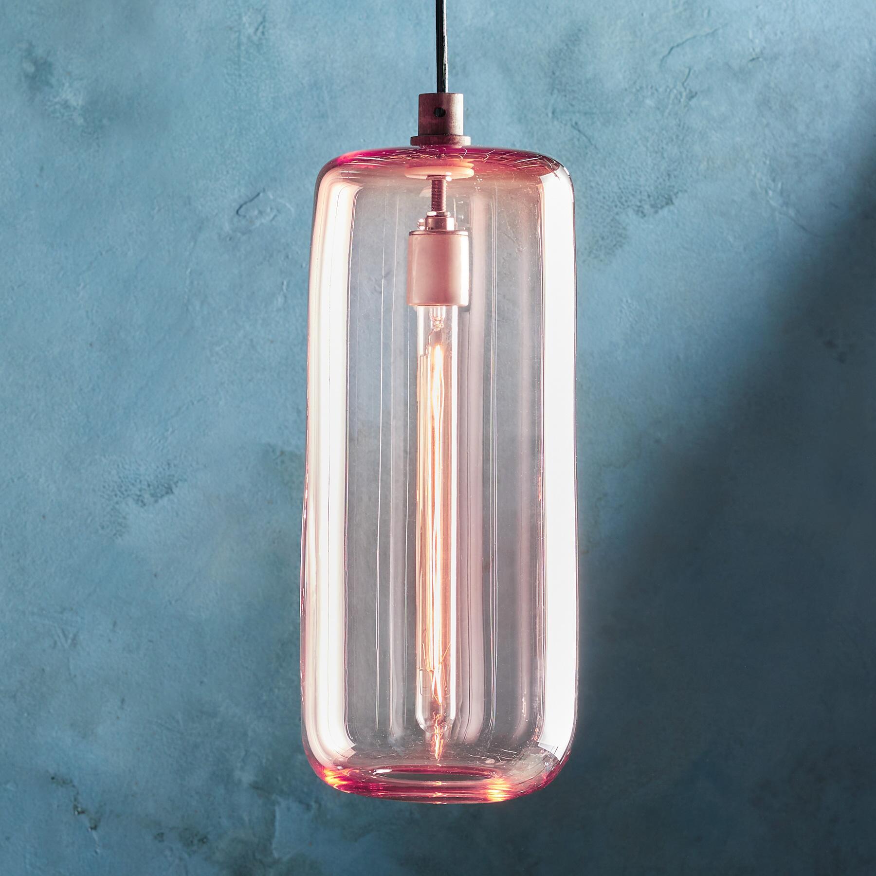 SALON GLASS CYLINDER PENDANT LIGHT: View 1
