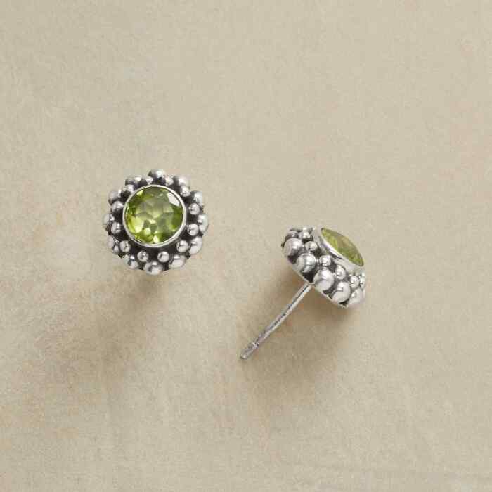 BUBBLY PERIDOT EARRINGS