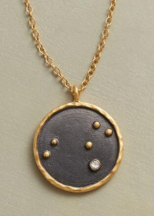 GOLD PLATE ZODIAC CONSTELLATION NECKLACE