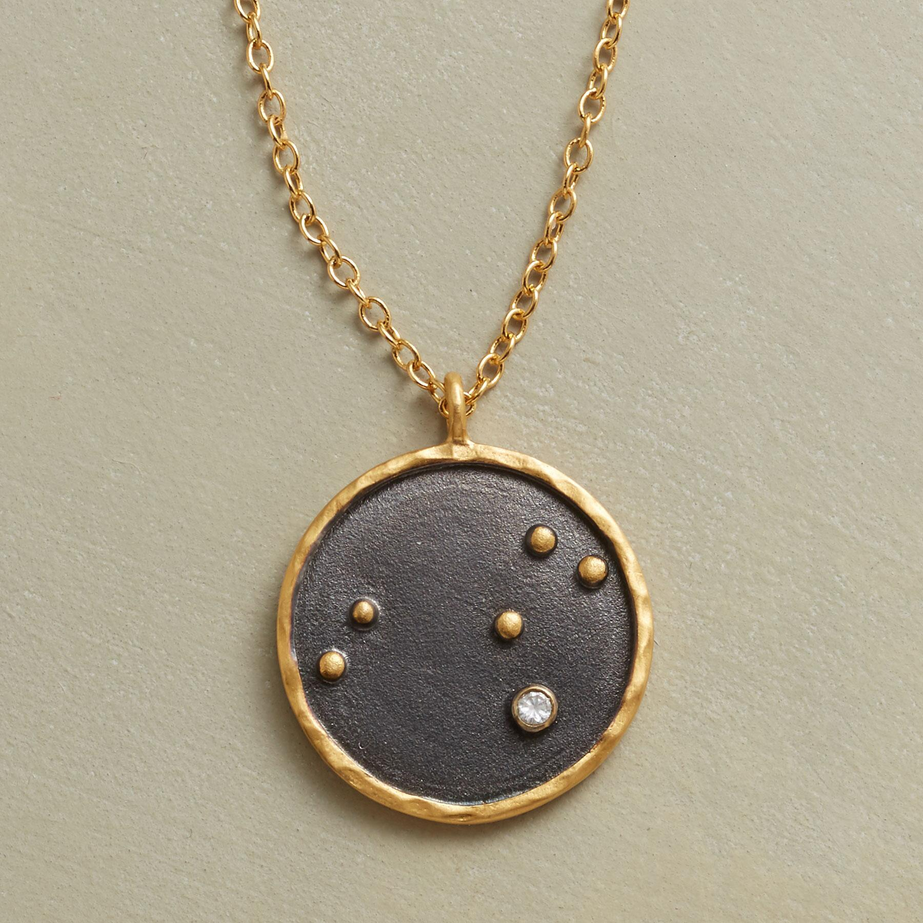 GOLD PLATE ZODIAC CONSTELLATION NECKLACE: View 1