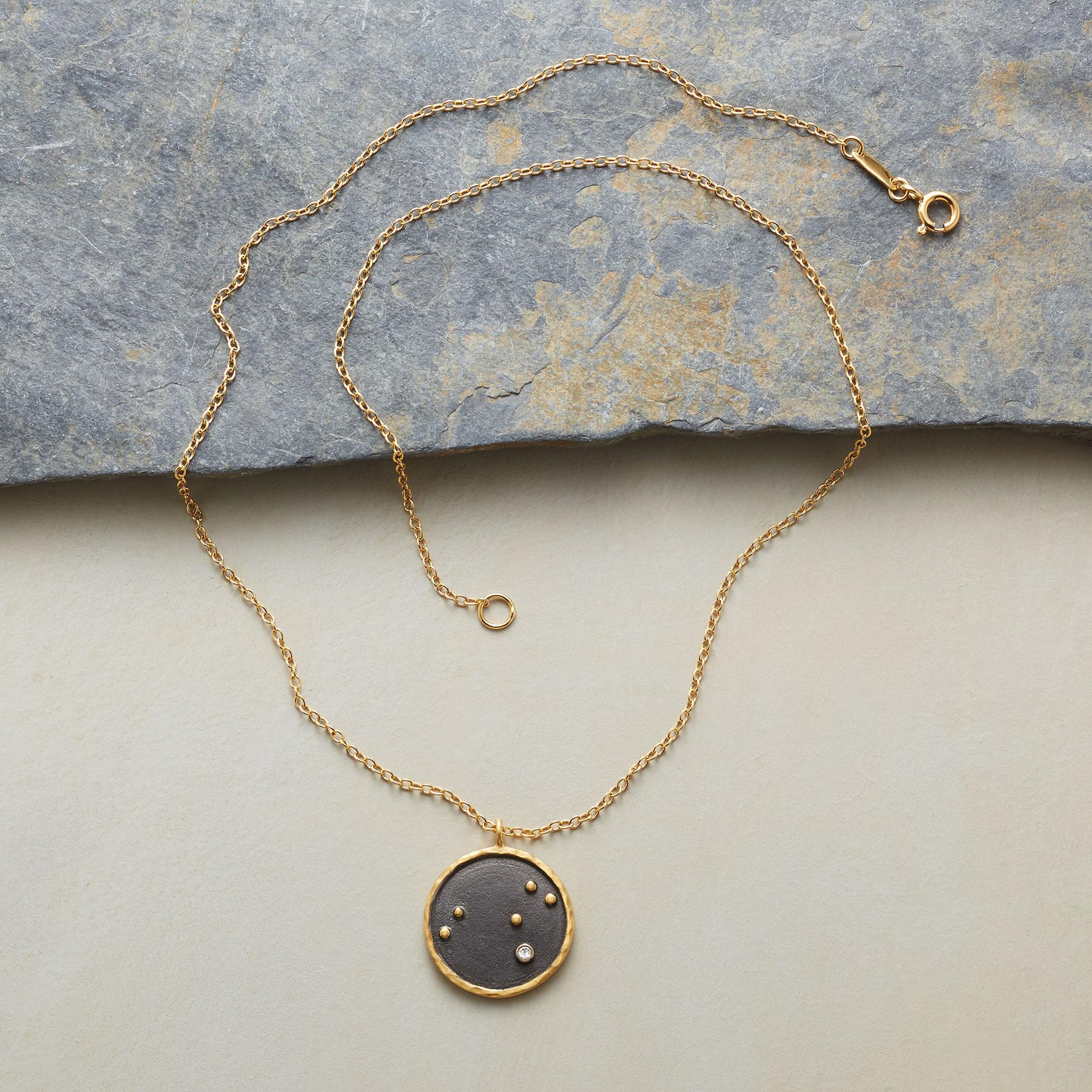 GOLD PLATE ZODIAC CONSTELLATION NECKLACE: View 2
