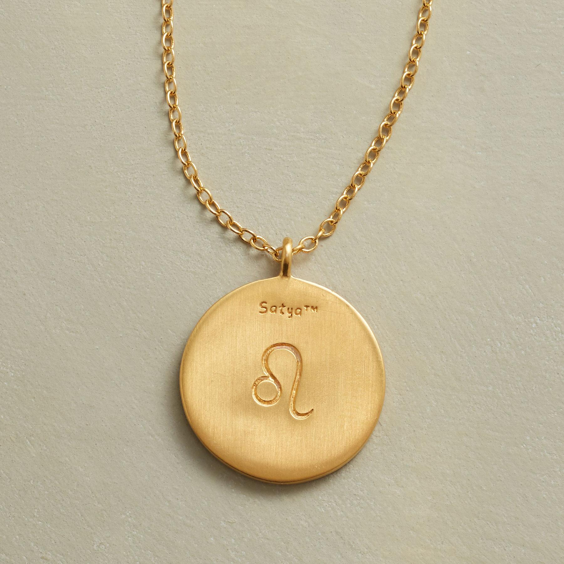 GOLD PLATE ZODIAC CONSTELLATION NECKLACE: View 3