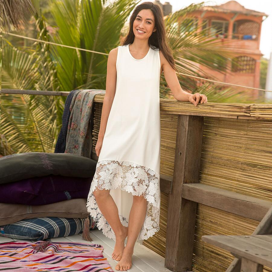 ETHEREA LACE BACK NIGHTGOWN
