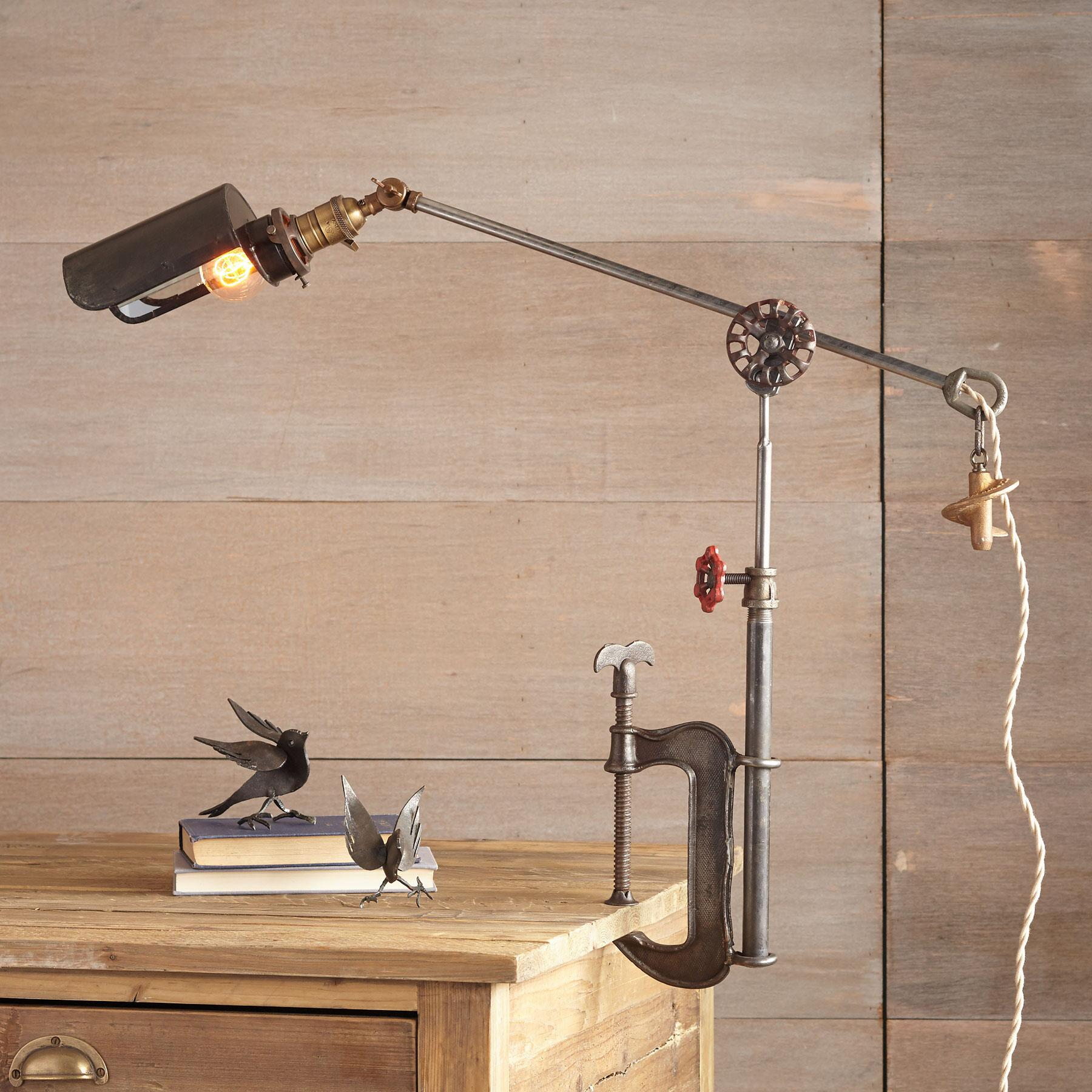 KENNEWICK C CLAMP TABLE LAMP: View 1