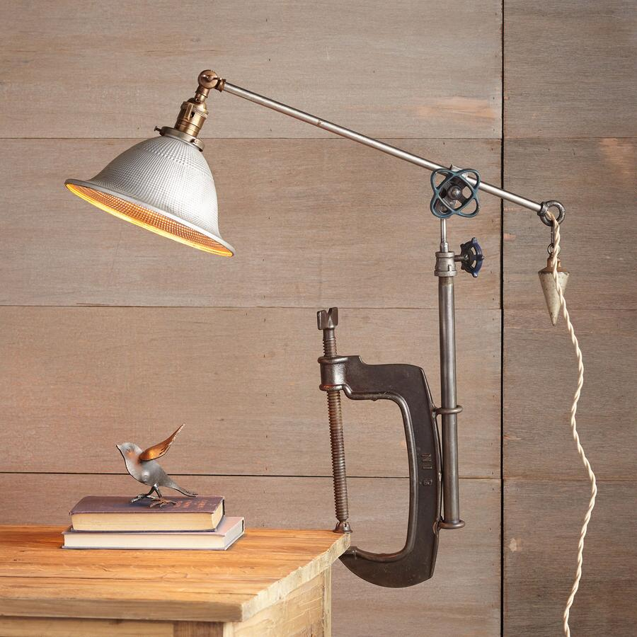CLEARFIELD C CLAMP TABLE LAMP