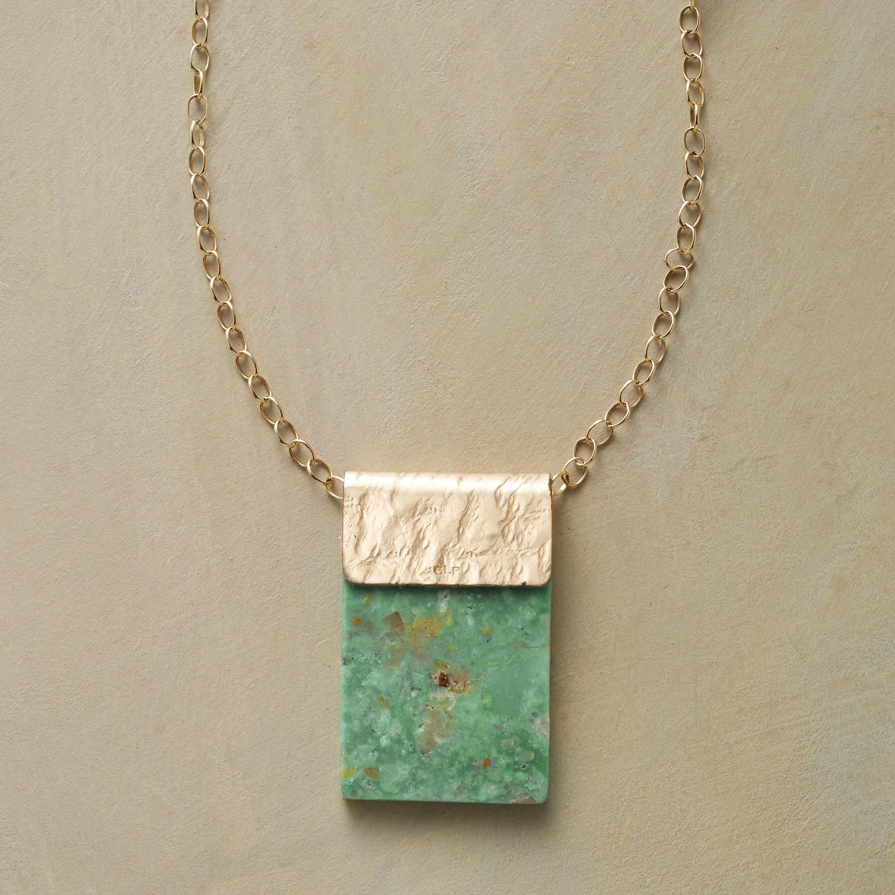TURQUOISE TABLET NECKLACE: View 1