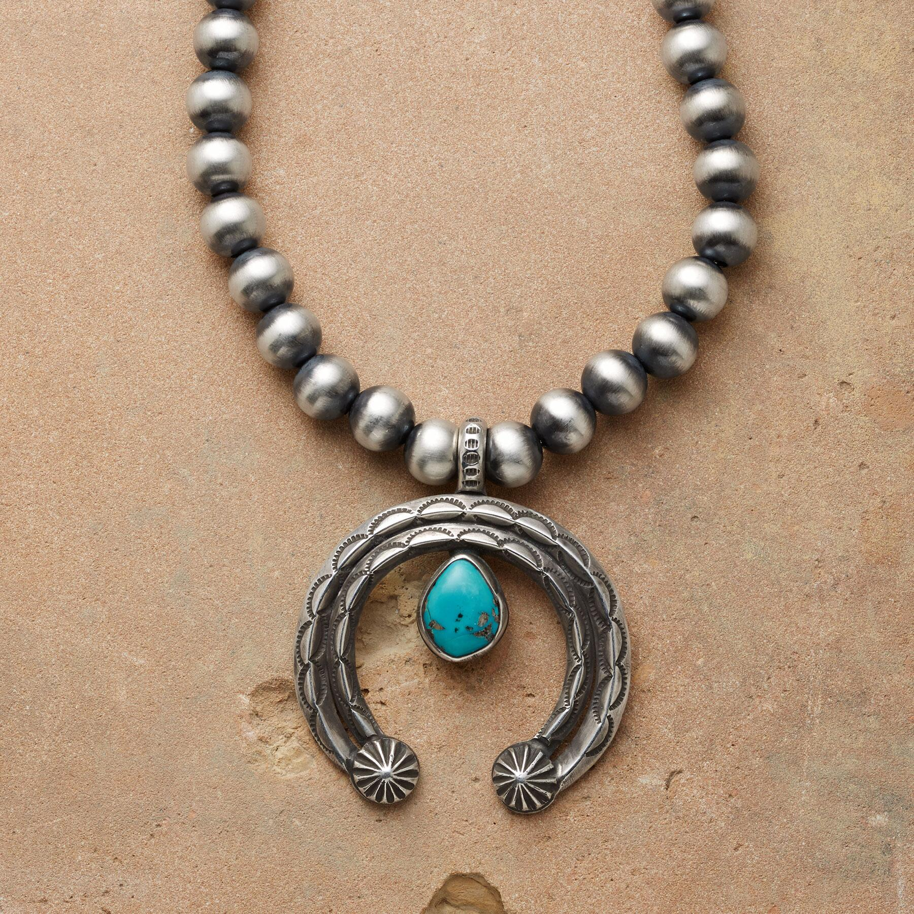STERLING TEARDROP NAJA NECKLACE: View 1