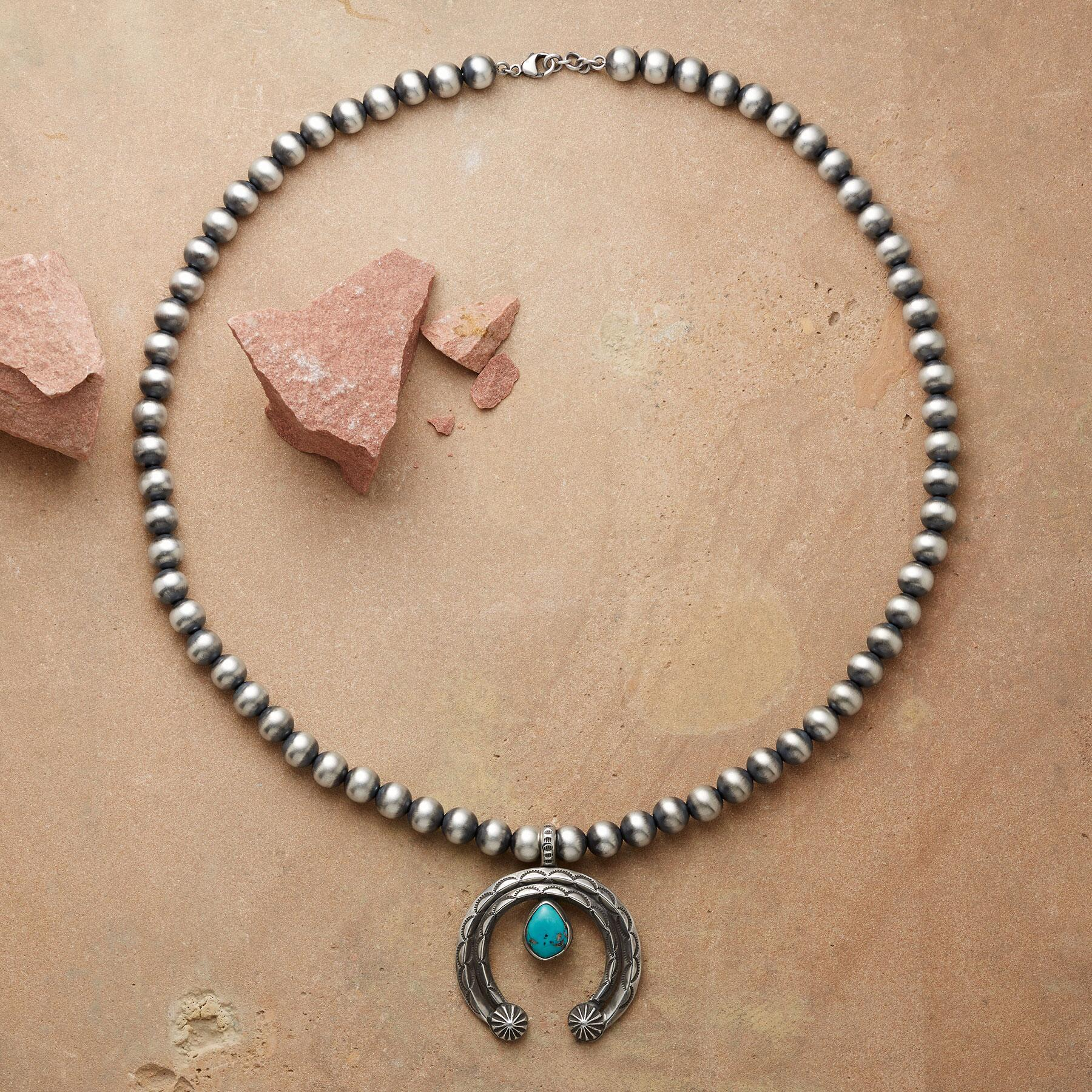 STERLING TEARDROP NAJA NECKLACE: View 2