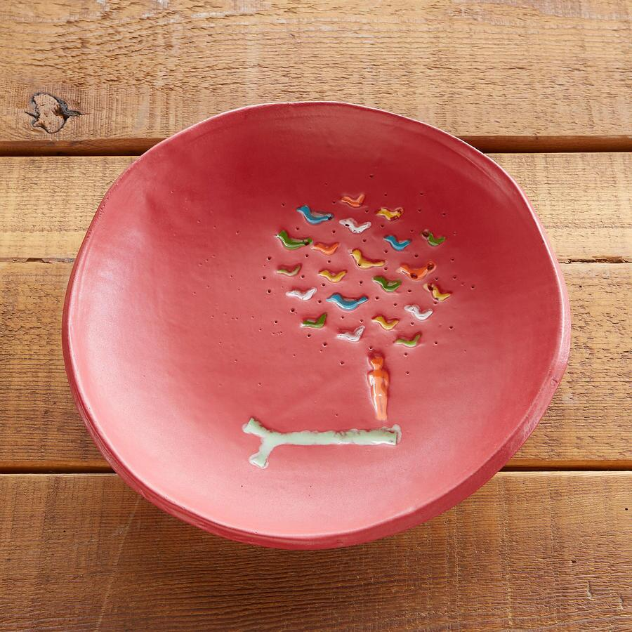 SUNDANCE... RED BIRD SERVING BOWL