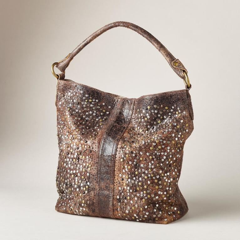 DEBORAH STUDDED HOBO BAG