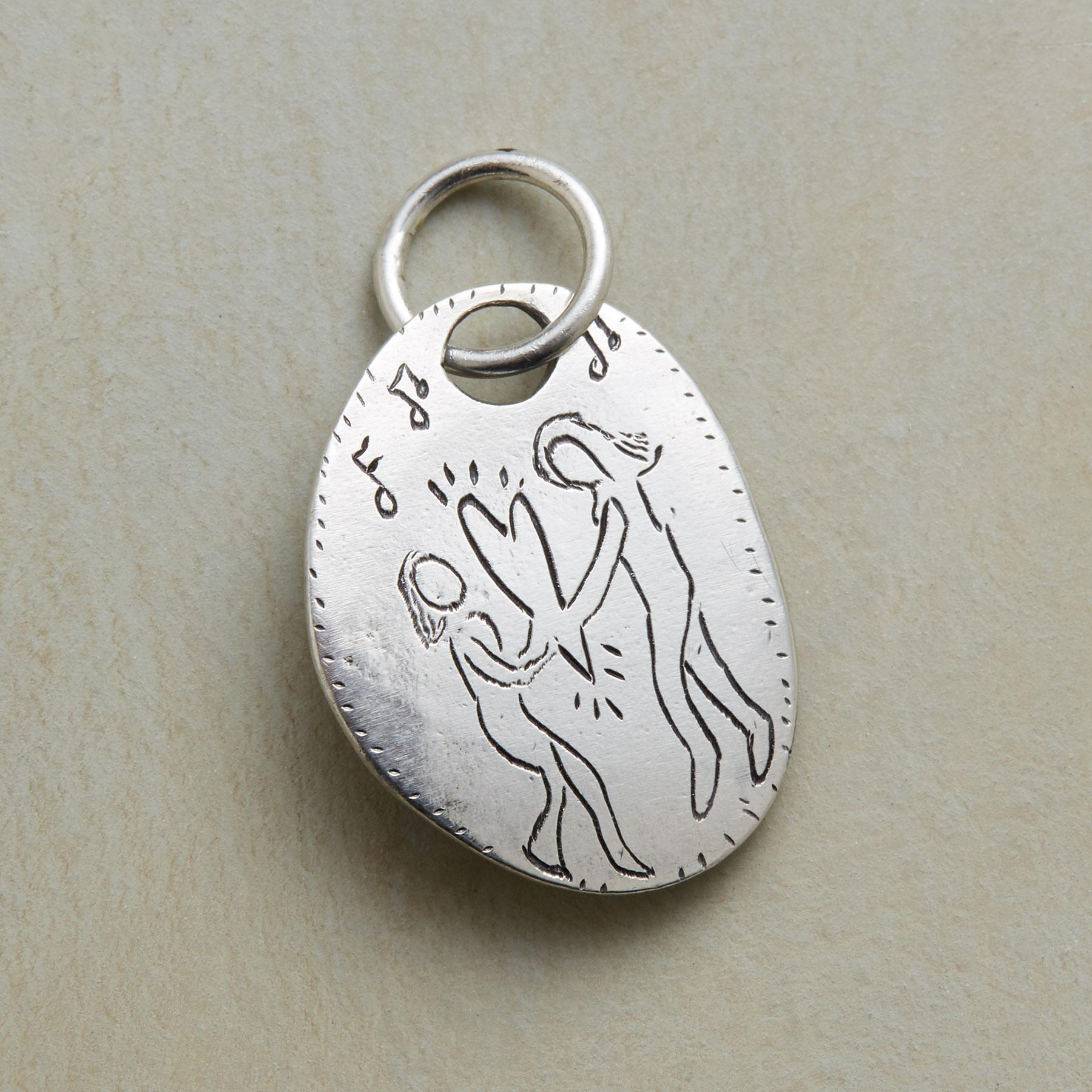 STERLING SILVER HEART DANCE CHARM: View 1