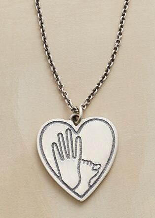 HEART AND HAND NECKLACE