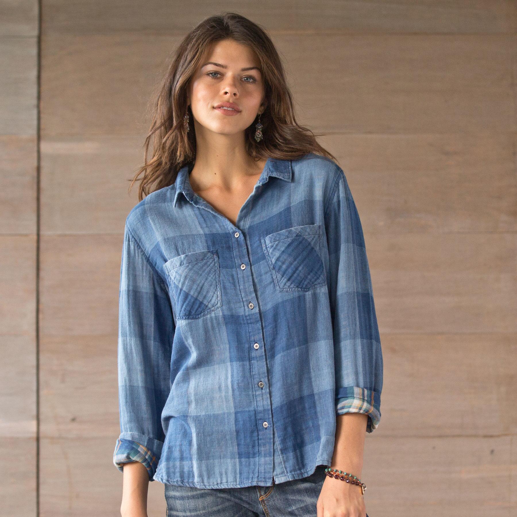 GILLY PLAID SHIRT: View 1