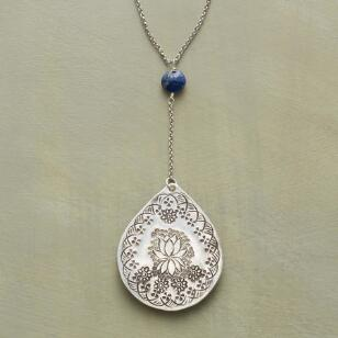 LAPIS LOTUS NECKLACE