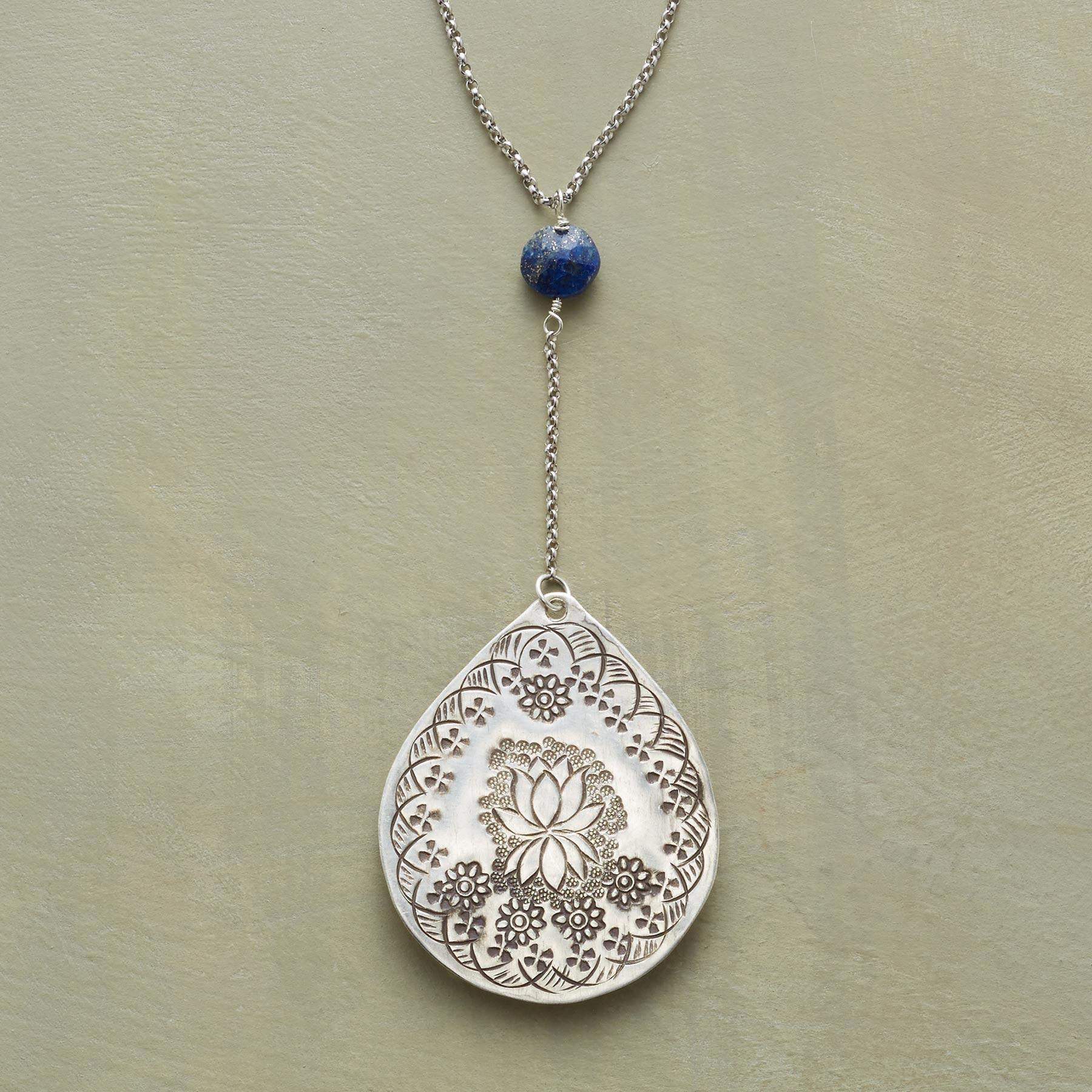 LAPIS LOTUS NECKLACE: View 1