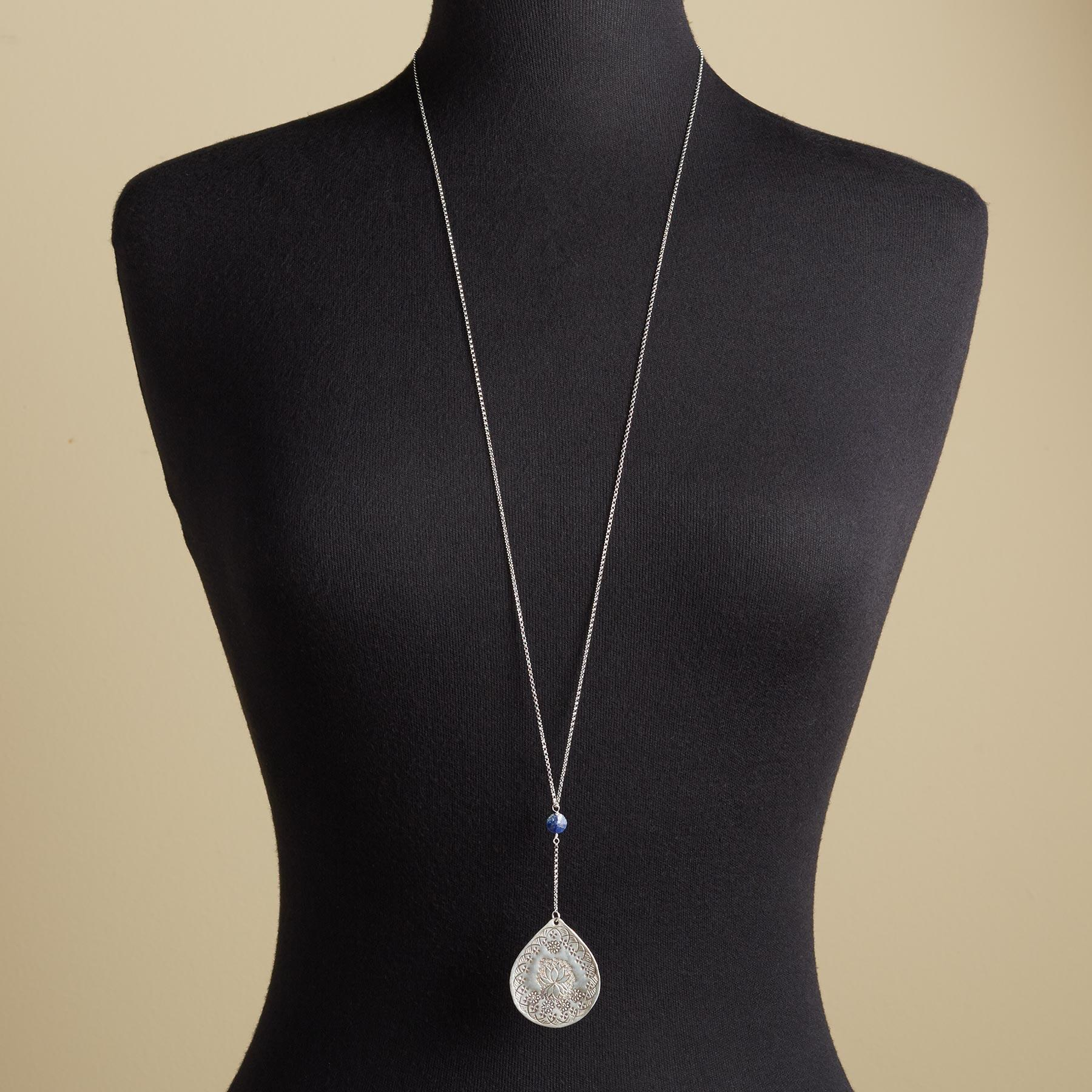 LAPIS LOTUS NECKLACE: View 4