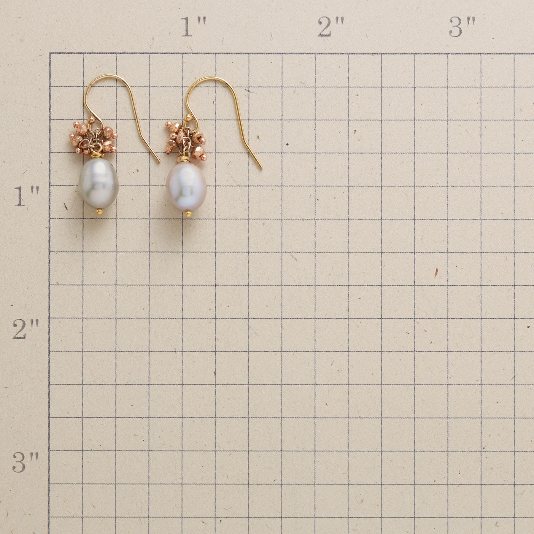 COPPERY CLUSTER EARRINGS: View 2