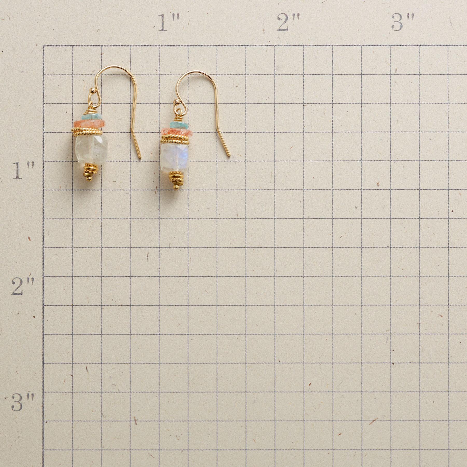 MOONSTONE SAUCER EARRINGS: View 2