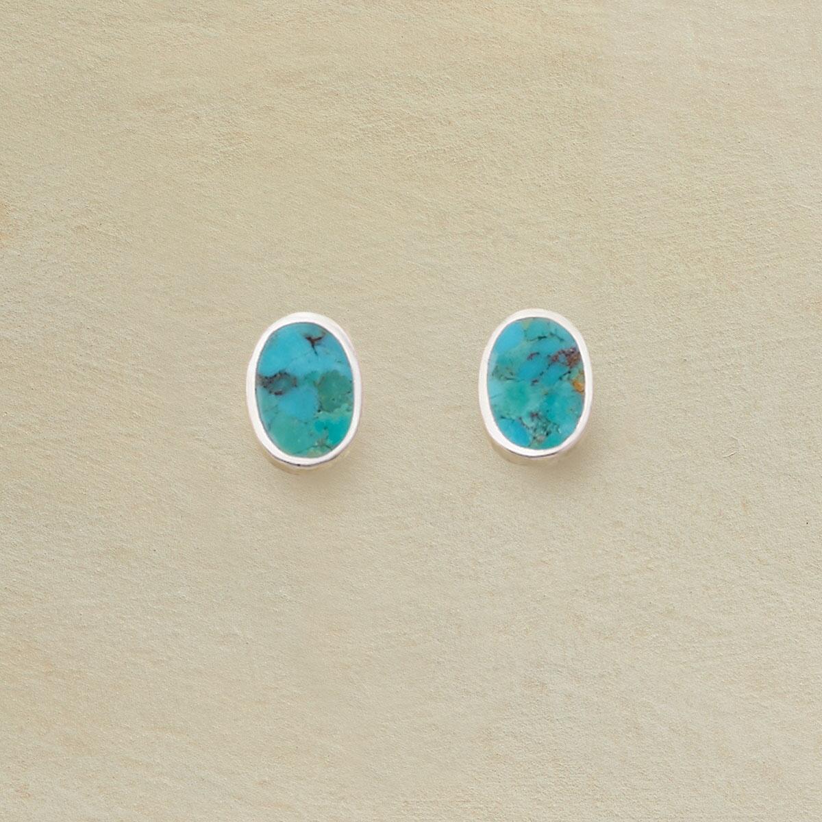 TURQUOISE TABLEAU EARRINGS: View 1