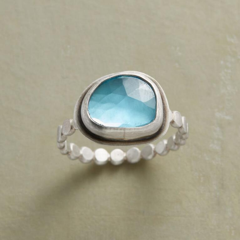 SHINING SEA TOPAZ RING
