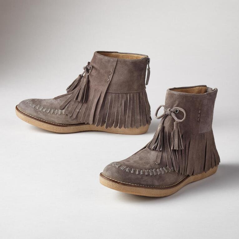 FLORA FRINGED BOOTS