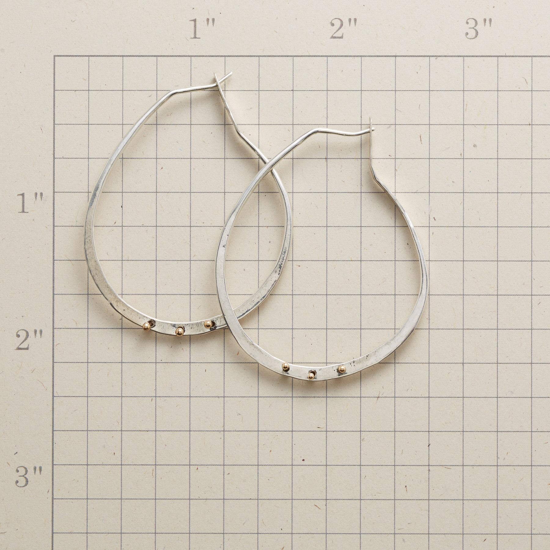 GOLD BARBELL HOOPS: View 2